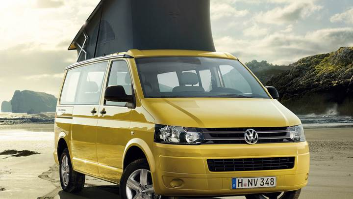 2012 Volkswagen California Beach In Yellow Front Pose